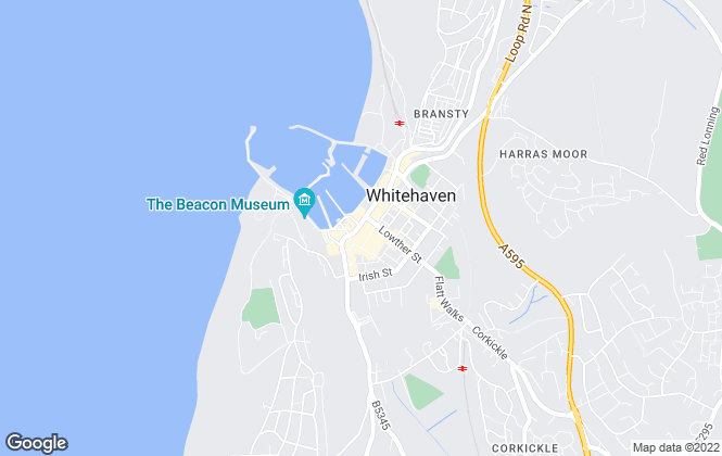 Map for Grisdales Estates Agents, Whitehaven
