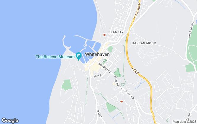 Map for Lillingtons Estate Agents, Whitehaven