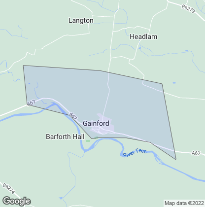 Map of property in Gainford