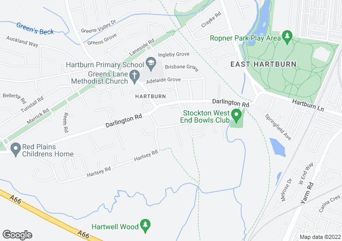 Map for Hartburn Village, Hartburn