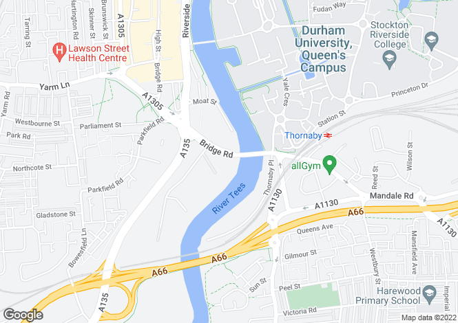Map for Durham University Colleges at Mezzino.
