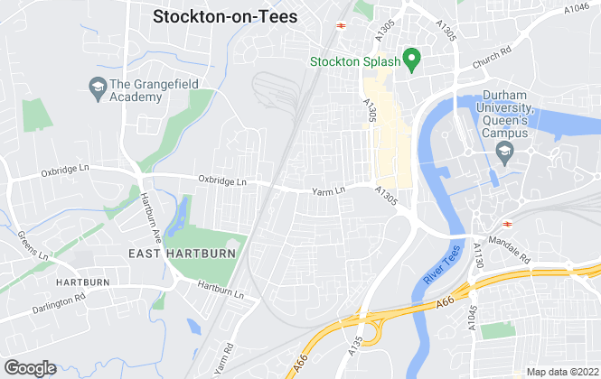 Map for Acorn Lettings & Sales, Stockton-On-Tees