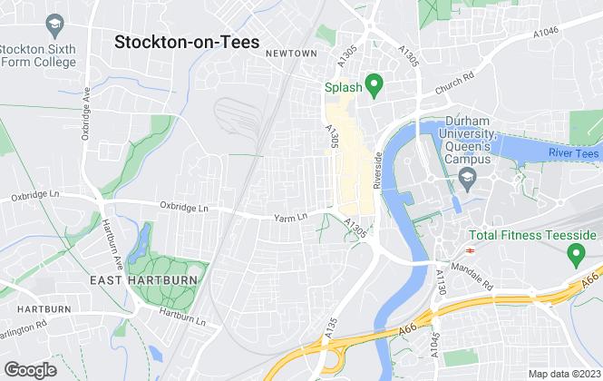 Map for Stockton Flats, Stockton-on-Tees