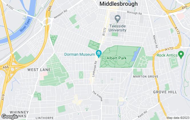 Map for NS Estates, Middlesbrough