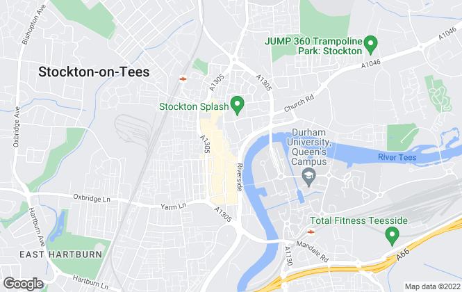 Map for Bridgfords Lettings, Stockton-On-Tees
