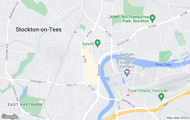 Map for Robinsons, Stockton - On - Tees