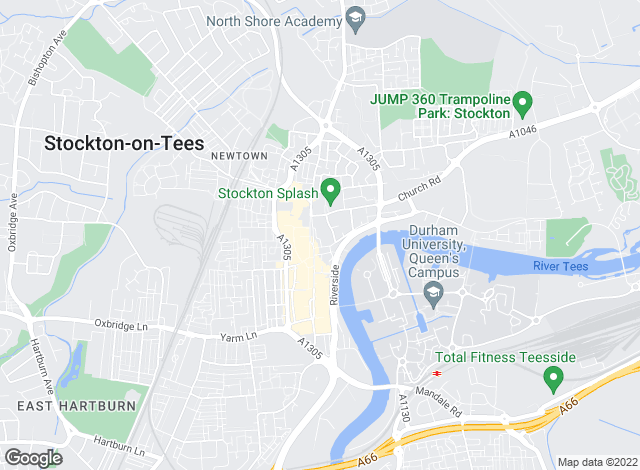 Map for Manners & Harrison, Stockton On Tees