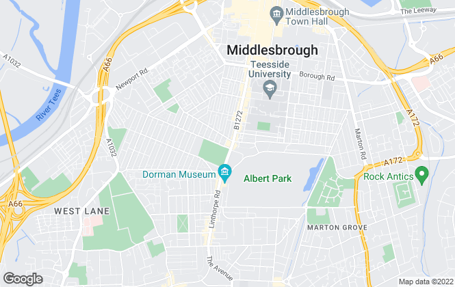 Map for North East Mortgage Services & Ind Estate Agents, Middlesborough