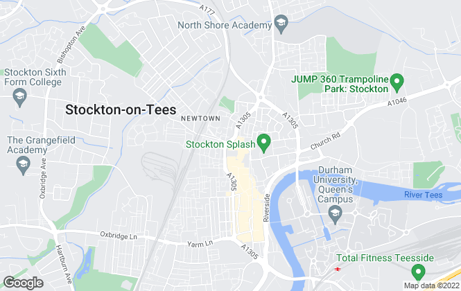 Map for Jones Estate Agents, Stockton on Tees