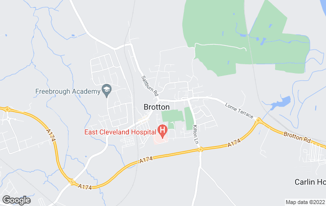 Map for Burrows Estates, Brotton