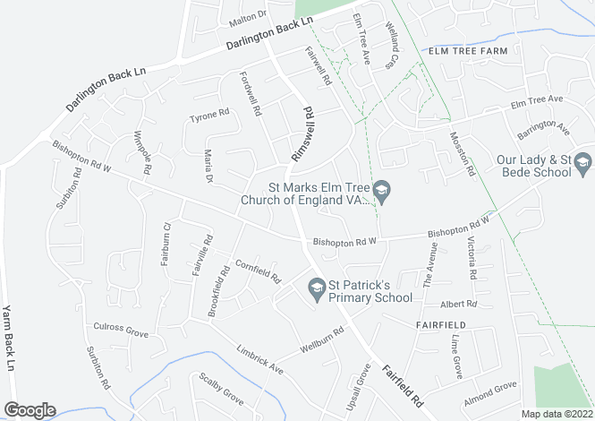 Map for Rimswell Road, Fairfield,Stockton-On-Tees