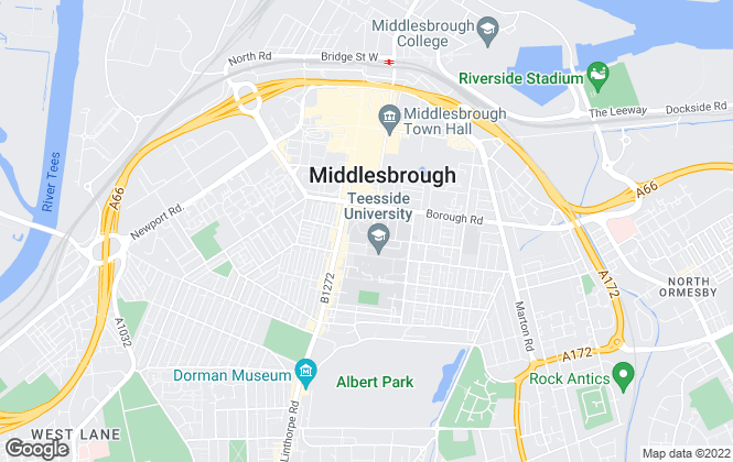 Map for The Student Living Company, Middlesbrough
