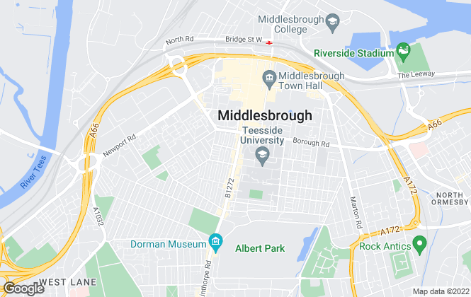 Map for Eazymove Estate Agents, Middlesbrough