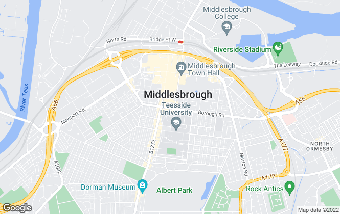 Map for Michael Poole, Middlesbrough