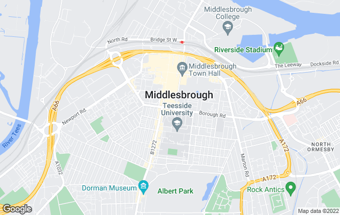 Map for Michael Poole, Auction - Middlesbrough