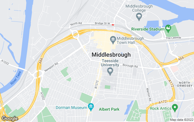Map for Tees Surveyors, Middlesbrough