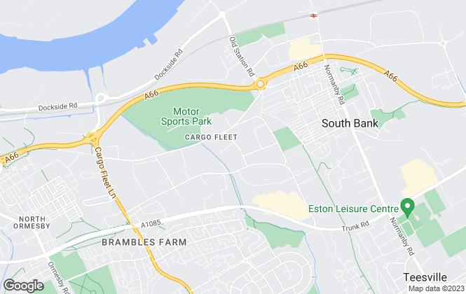 Map for Merrifield Estates, Stockton