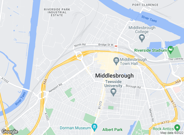 Map for Queens Court, Middlesborough