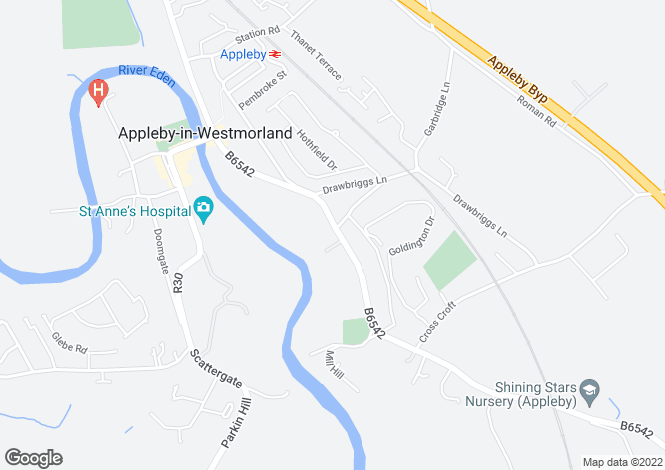 Map for Bongate, Appleby