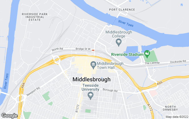 Map for DODDS BROWN LLP, Middlesbrough