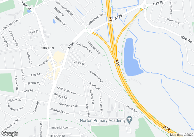 Map for Dovedale Close,