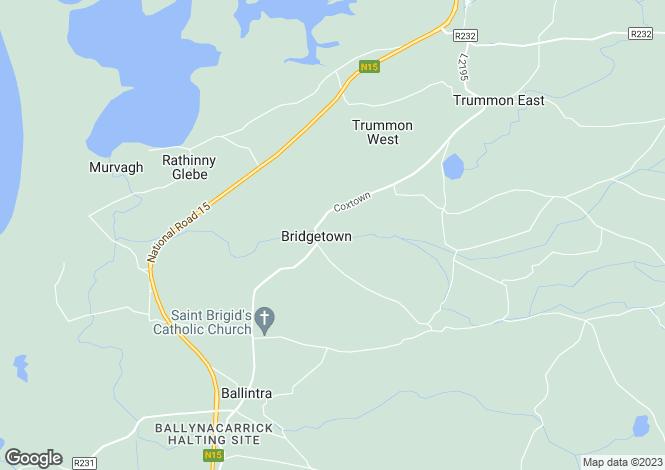 Map for 9 bridge view bridgetown , Laghey, Donegal