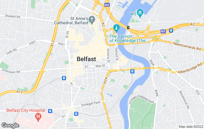 Map for Savills New Homes, Belfast