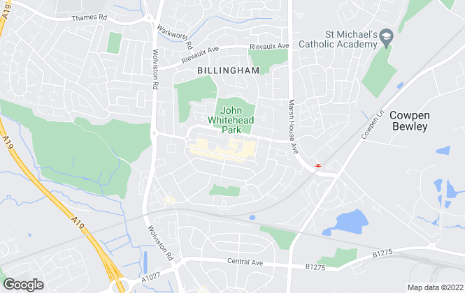 Map for Thirlwells Estate Agents and Valuers, Billingham