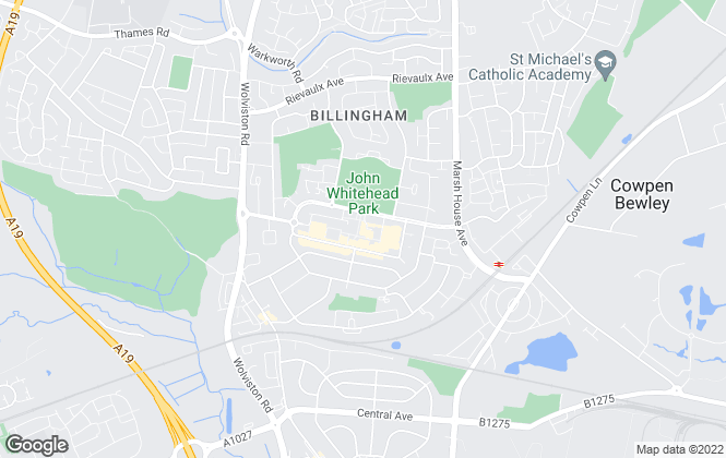 Map for Northgate Estate Agents & Property Management, Billingham