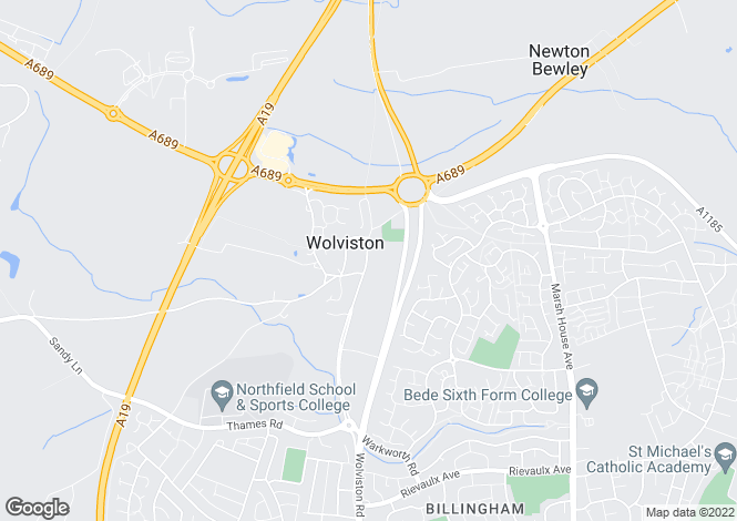 Map for High Street, Wolviston, Billingham