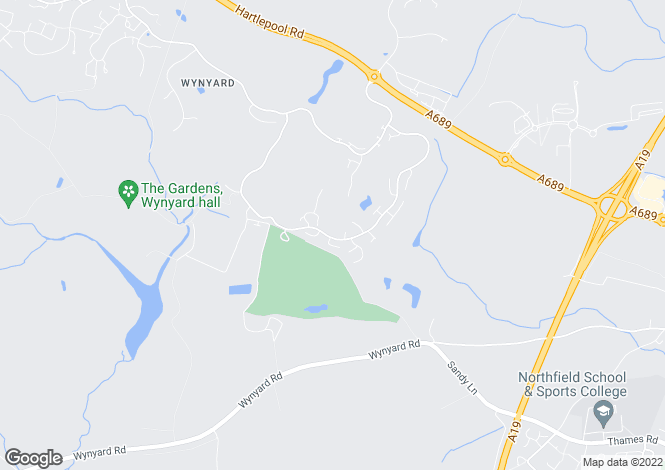 Map for Wellington Drive, Wynyard