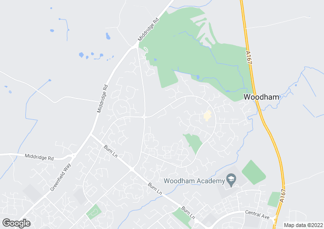 Map for Woodham Gate, Woodham, Newton Aycliffe
