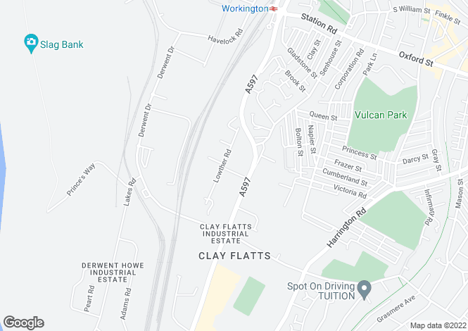 Map for Clay Flatts Industrial Estate, (Units 1 - 3 Lowther Court), Lowther Road, Workington