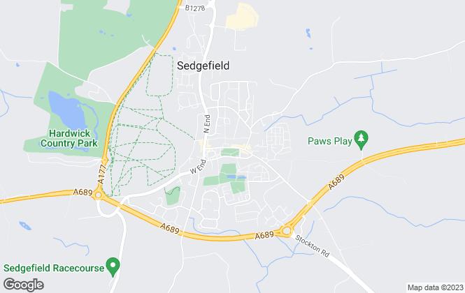 Map for Dowen, Sedgefield