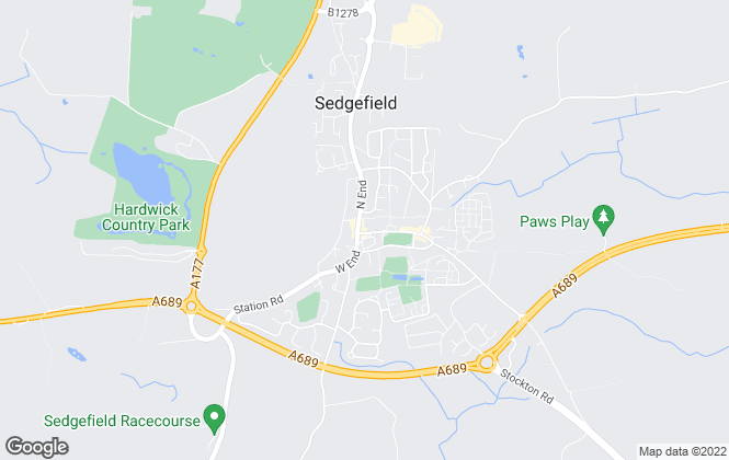 Map for Robinsons, Sedgefield
