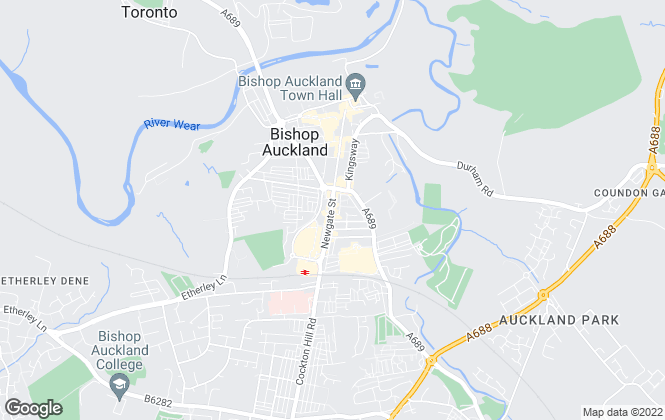 Map for Lifestyle Property, Bishop Auckland
