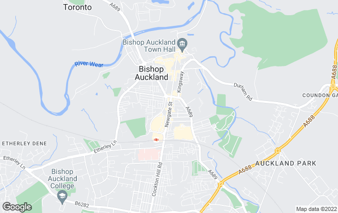 Map for Robinsons, Bishop Auckland