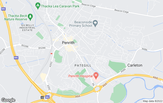 Map for David Britton Estates, Penrith