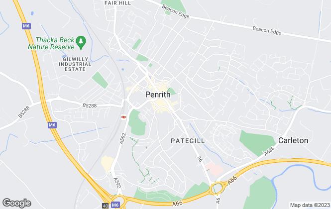 Map for Arnison Heelis Estate Agents, Penrith