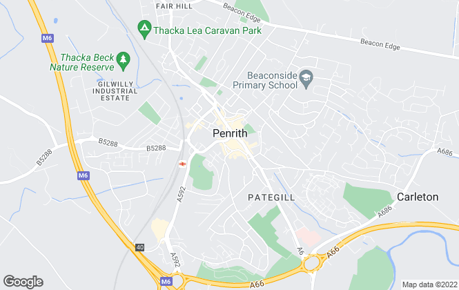 Map for Wilkes-Green & Hill Ltd, Penrith