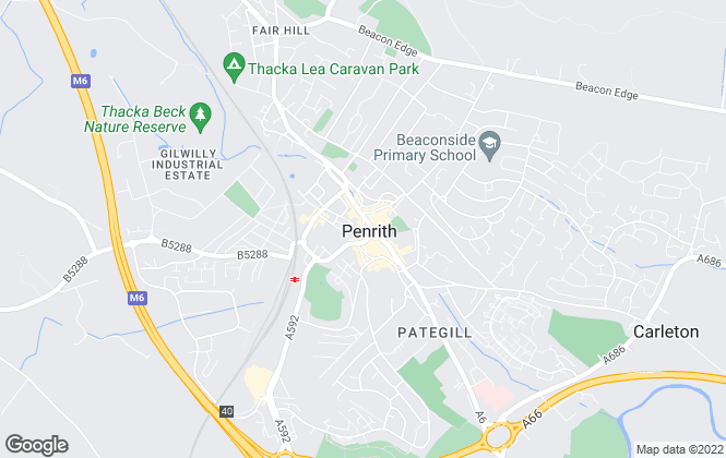 Map for Eden Estate Agents, Penrith