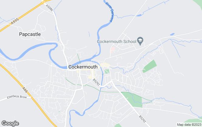 Map for Martin Goode MRICS Ltd, Cockermouth