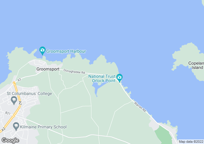Map for Orlock Road, Groomsport, Bangor BT19