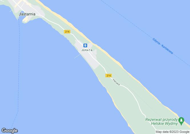 Map for Hel, Pomorskie