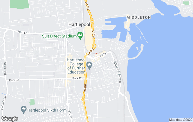 Map for Atterway  , Hartlepool
