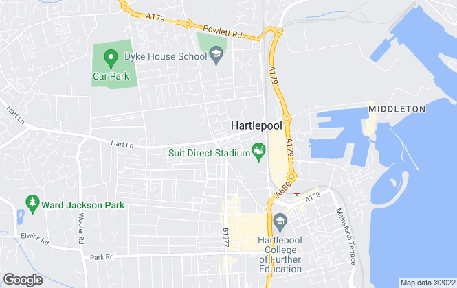 Map for abode living sales & lettings, Hartlepool