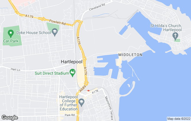 Map for Hamways, Hartlepool