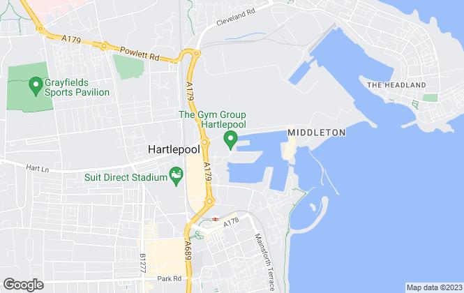 Map for Hamways, Hartlepool