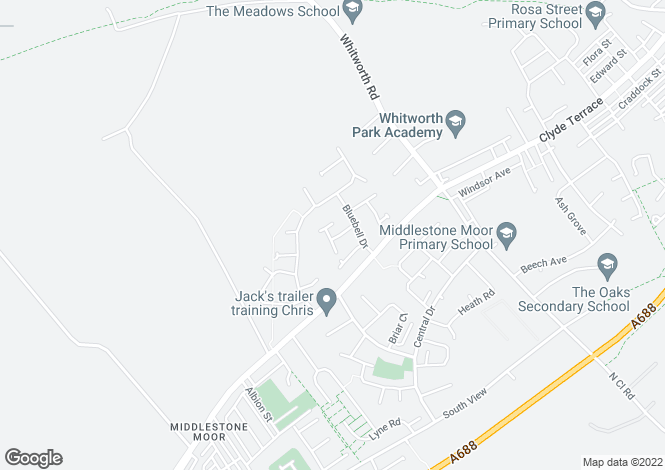 Map for Thistle Close, Spennymoor DL16