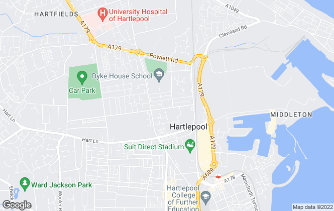 Map for A Better Letting, Hartlepool